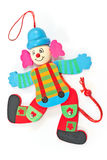 Mechanical clown toy on string Royalty Free Stock Images