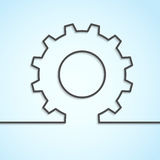 Mechanical cog wheel abstract background Stock Image
