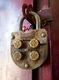 Mechanical combination lock with round code elements Stock Photography