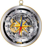 Mechanical compass Royalty Free Stock Images