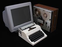 Mechanical computer Royalty Free Stock Photography