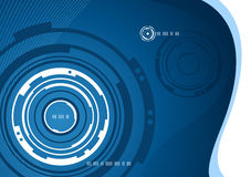 Mechanical concentric abstract background. Mechanical abstract background design in blue and white Stock Image
