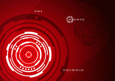Mechanical concentric abstract background. Red mechanical concentric circle abstract background design Royalty Free Stock Images