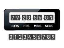 Mechanical countdown timer. Vector illustration stock illustration