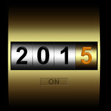 Mechanical counter 2015. Metal counter date new year 2015 stock illustration