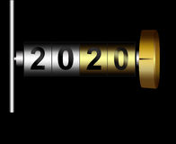 Mechanical counter 2020. Metal counter date new year 2020 Stock Photo