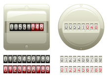 Mechanical Counters And Digits royalty free stock photography