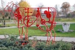 Mechanical cow Stock Photo