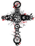 Mechanical cross Royalty Free Stock Image
