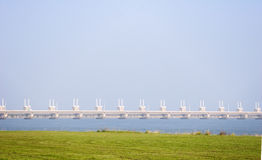 Mechanical Dam Protection in Holland Royalty Free Stock Photos