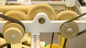 Mechanical design with gears. Media. Gears working in bundles for movement.  stock video