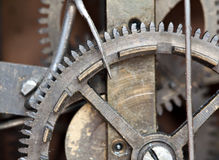 Mechanical details of an old clock Stock Photos