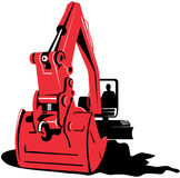 Mechanical digger Royalty Free Stock Photography