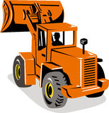 Mechanical digger excavator Stock Image