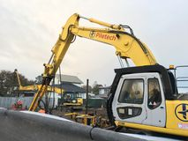 Mechanical Digger Excavator Stock Images