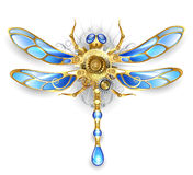 Mechanical dragonfly on a white background Stock Photos