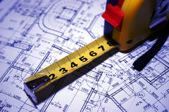 Mechanical drawing Royalty Free Stock Image