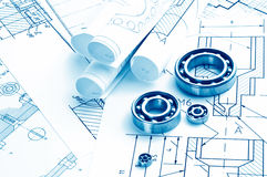 Mechanical drawing royalty free stock photography