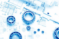 Mechanical drawing Royalty Free Stock Images
