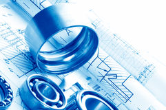 Mechanical drawing Stock Photos