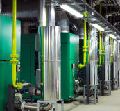 Mechanical and electrical plant rooms royalty free stock image