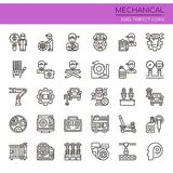 Mechanical Elements. Thin Line and Pixel Perfect Icons royalty free illustration