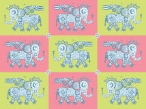Mechanical elephant pattern Stock Image
