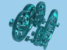 Mechanical engine Stock Photo