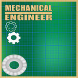 Mechanical Engineer background Royalty Free Stock Photos