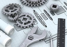 Mechanical Engineering concept royalty free illustration