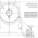Mechanical engineering drawing Royalty Free Stock Photo