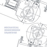 Mechanical engineering the drawing. Technical illustration Stock Images