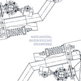 Mechanical engineering the drawing. Technical illustration Royalty Free Stock Photo