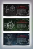 Mechanical engineering drawings on blackboard Stock Photography