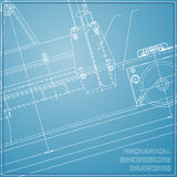 Mechanical engineering drawings Royalty Free Stock Images