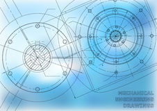 Mechanical engineering drawings Royalty Free Stock Photos
