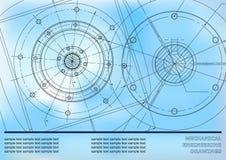 Mechanical engineering drawings Stock Photo