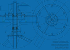 Mechanical engineering drawings Royalty Free Stock Photography