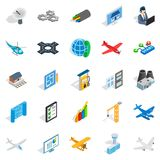 Mechanical engineering icons set, isometric style Stock Photos