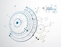 Mechanical engineering technology vector abstract background, cy Stock Image