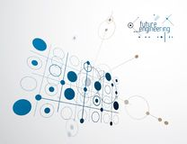 Mechanical engineering technology vector abstract background, cy Stock Photos