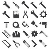 Mechanical equipment icons set Stock Photography