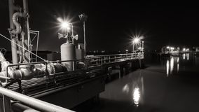 Mechanical equipment platforms locate in the river. Stock Photography