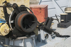 Mechanical equipment of river ferry Royalty Free Stock Photography