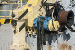 Mechanical equipment of river ferry Royalty Free Stock Photos