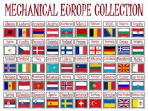 Mechanical europe collection Royalty Free Stock Photos