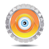 Mechanical eye. On a isolated background Royalty Free Illustration