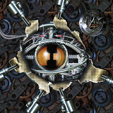 Mechanical eye stock illustration