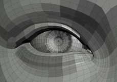 Mechanical eye illustration Royalty Free Stock Photos