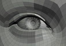 Mechanical eye illustration Royalty Free Stock Photos